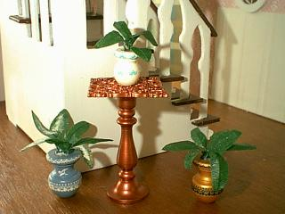 Painted Pots with Plants and Copper Table 2.JPG