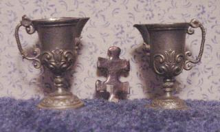 German Pewter Pitchers, Souvenirs of WWII