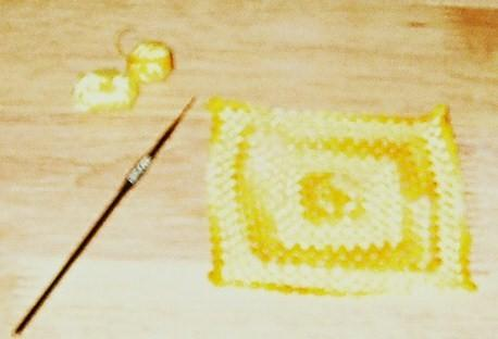 Sherry's yellow baby afghan