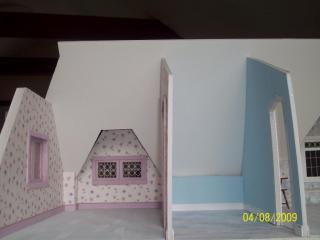Child's bedroom on left; Bathroom on right