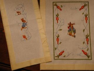 Peter Rabbit rug and bell pull