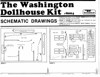 Original instructions for The Washington Dollhouse Kit