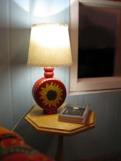 Handmade sunflower lamp