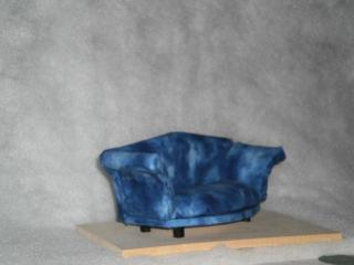 blue loveseat side