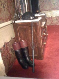 Riding Crop, helmet, and boots!