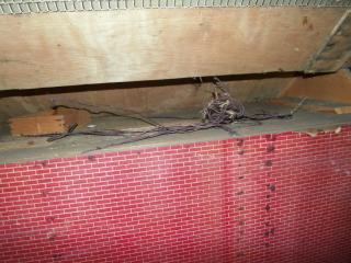 The old electric wiring in the roof