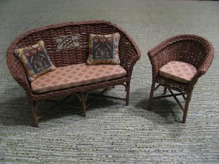 Wicker furniture after