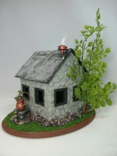 Quarter Scale Steampunk Fairy House Side View