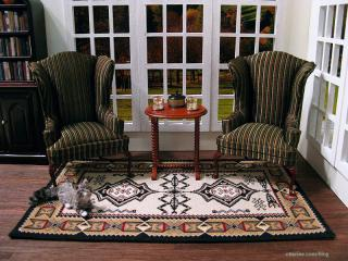 Navajo rug - room setting