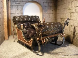 Sleigh with carriage lights