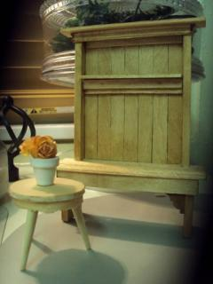 Scratch built Hall bench and stool