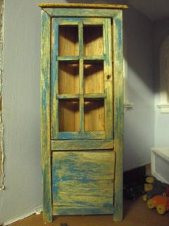Scratch built Colonial Corner Cupboard