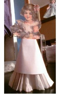 paper dolly with kitty