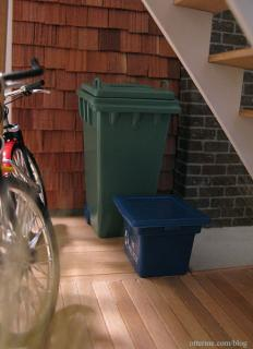 Wheelie and recycle bins