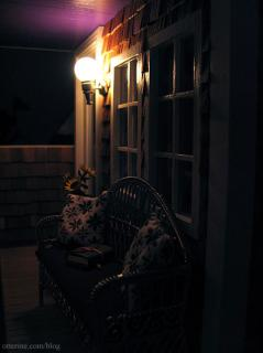 Nighttime on the porch