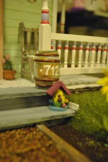 Stoop and house number