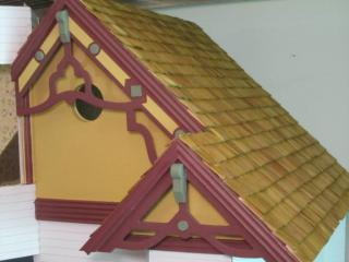 Gables and roof done