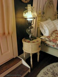 Antique drum nightstand - one down, one to go