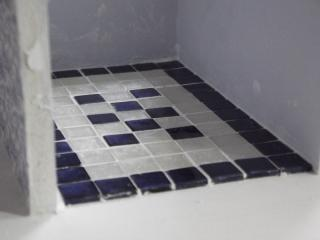 Closeup of tile..grouted