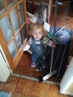 9. Helping Mummy sweep