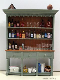 Farmhouse hutch - the bar!