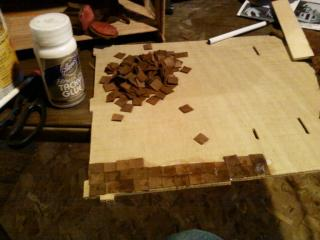Beginning with Cut Up leather For tiles