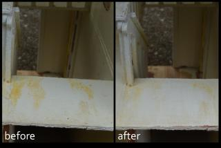 Before and After Sanding