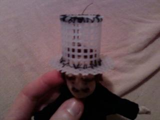 Another view of base of top hat