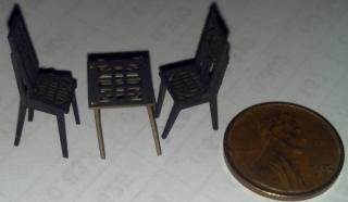 Quarter Scale Table and Chairs