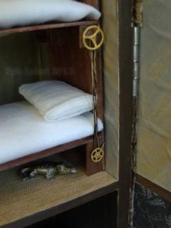 Steampunk House Bedroom Bunk beds Detail 2