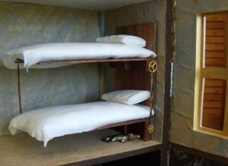The Steampunk House Bedroom Bunk Beds Close Up 1