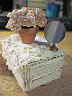 Shabby Chic mini chest of drawers from tutorial