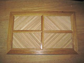 Wood flooring pattern for the front section of the cottage