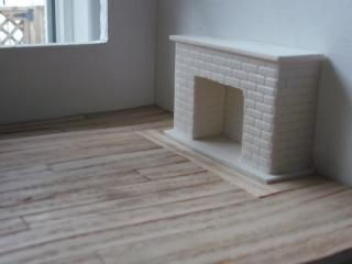 Closeup of fireplace