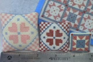 Cross stitch pillows