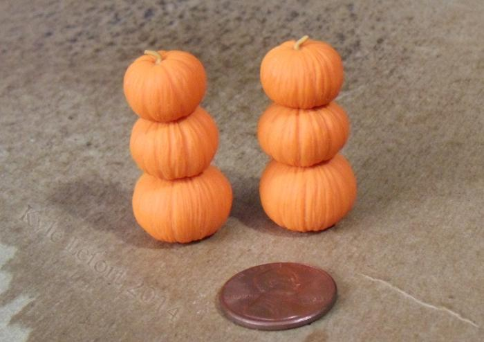orange stacked pumpkins custom