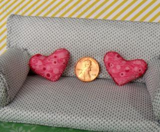 heart miniature pillow set
