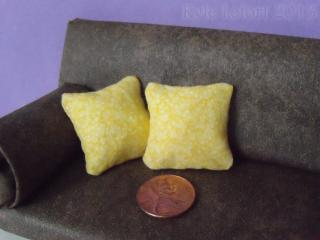 yellow pillow pair