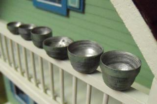Miniature Faux Painted-Tarnished Metal Bowls
