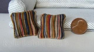 contemporary striped pillows