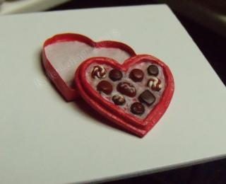 Miniature Box of Chocolates - Red Heart Box