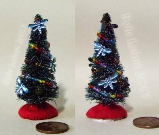 small miniature blue dragonfly christmas tree 1