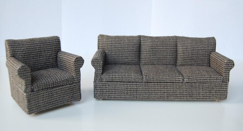 Reupholstered couches