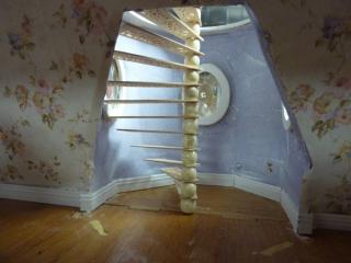 "M and D's Pierce ""Painted Daisy"" Spiral Stair"