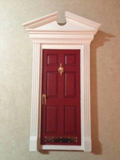 Finished front door w/ hardware