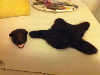 Bear Skin Rug in Progress
