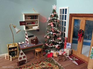 Hampton work room at Christmastime