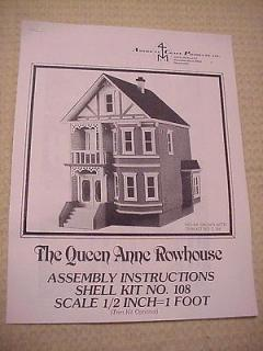 Original Half Scale Queen Anne Row House