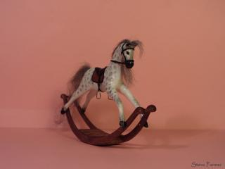 Dapple White Rocking Horse