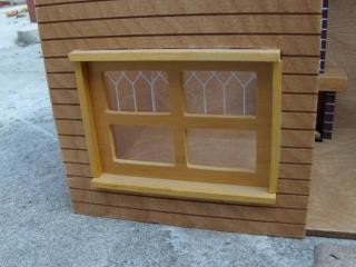 cabin dollhouse window empty